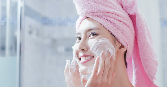 時短スキンケアや洗顔