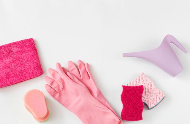 洗濯パンを掃除する際に準備する道具
