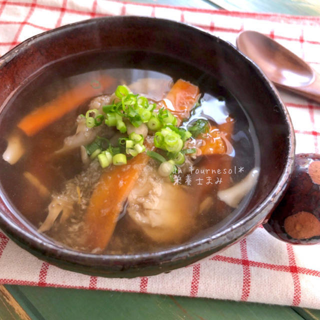 すりおろしごぼうのスープ